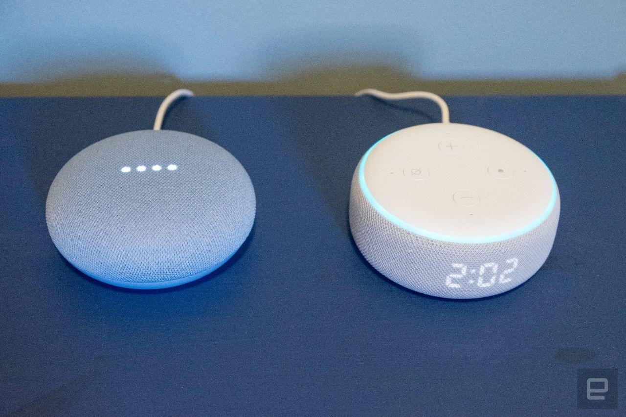 Google Nest Mini和Amazon Echo Dot